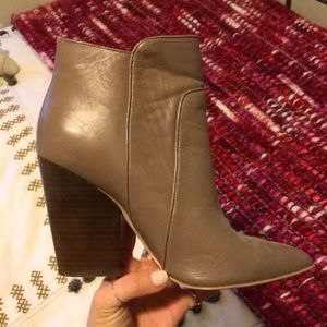 BCBG bootie heels